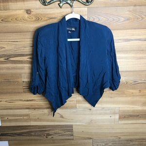 Dark blue mini jacket with pads